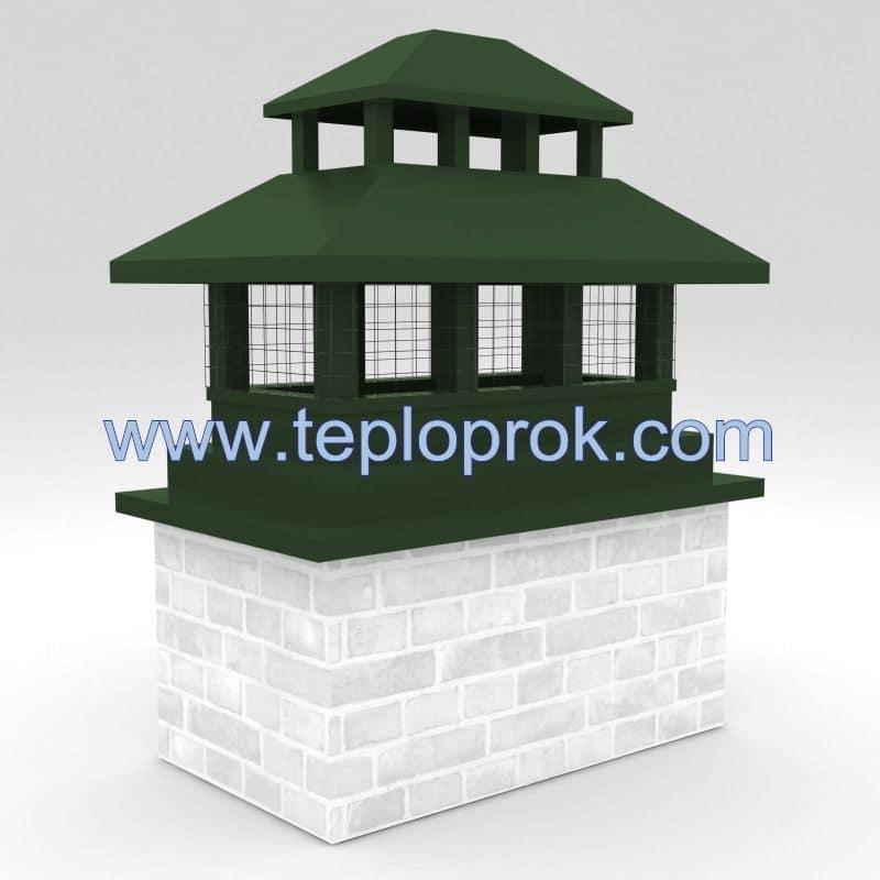 Дымники с дополнительной крышей