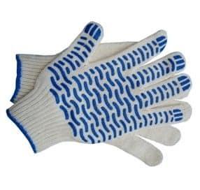 Перчатки ХБ с ПВХ Волна